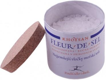 Nejjemnější vločky mořské soli Fleur de Sel (dóza 125g)